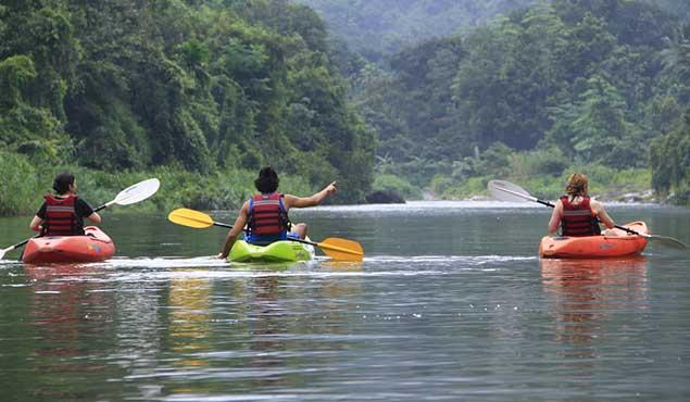 Canoeing in Sri Lanka